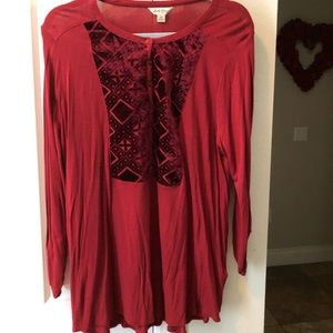 Lucky Brand Red Top 1X
